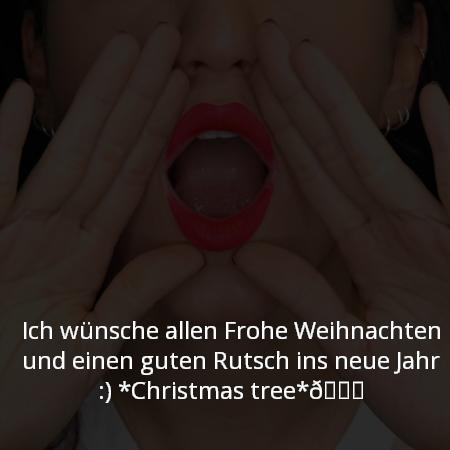 Ich wünsche allen Frohe Weihnachten und einen guten Rutsch ins neue Jahr ☺????☺