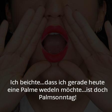 Ich beichte...dass ich gerade heute eine Palme wedeln möchte...ist doch Palmsonntag!