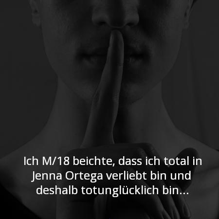 Ich M/18 beichte, dass ich total in Jenna Ortega verliebt bin und deshalb totunglücklich bin...